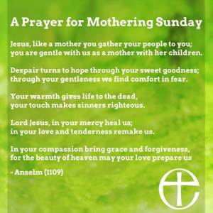 St Anselm, Mothering Sunday prayer